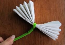 pliage de serviette libellule