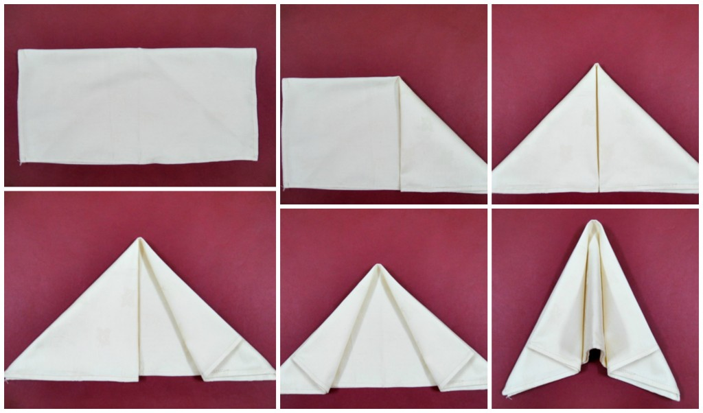 Pliage de serviette facile tutoriel et explication for Pliage de serviette en papier 2 couleurs facile