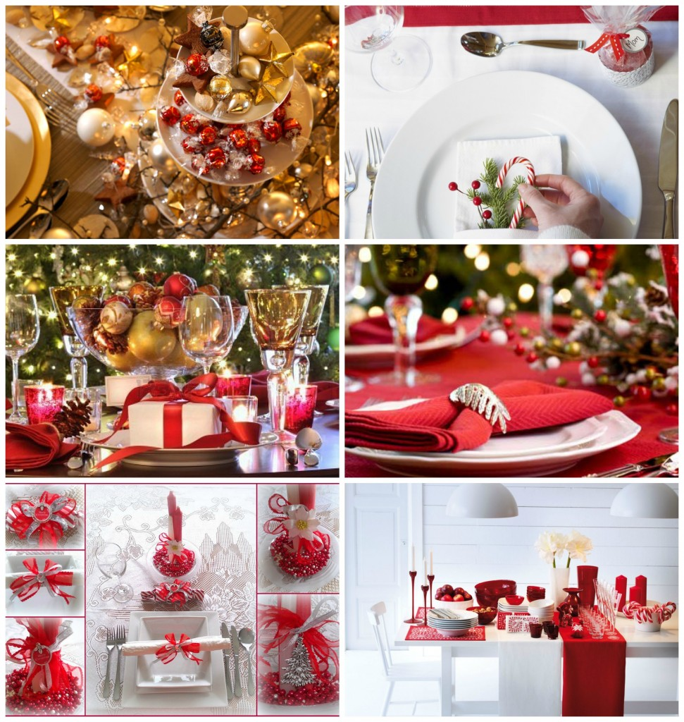 decoration de table noel rouge