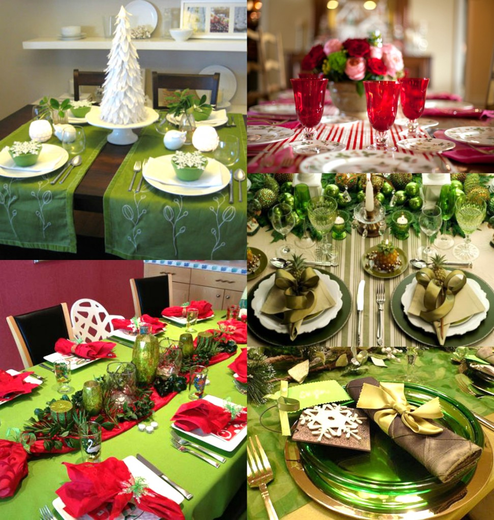 Decoration de noel rouge et vert - Deco tables de noel ...