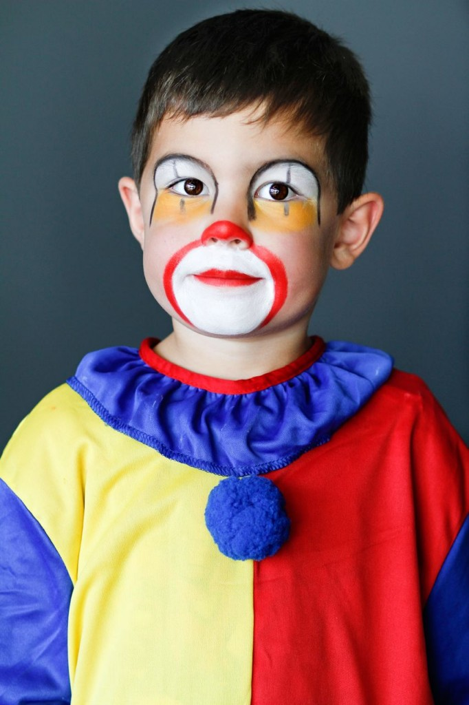 Maquillage clown pour enfant tutoriel - Maquillage de clown facile ...