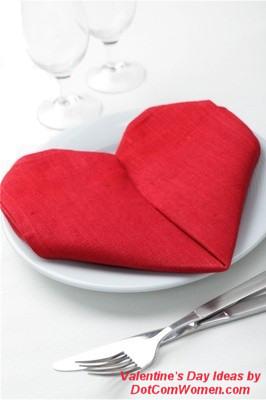 pliage de serviette coeur