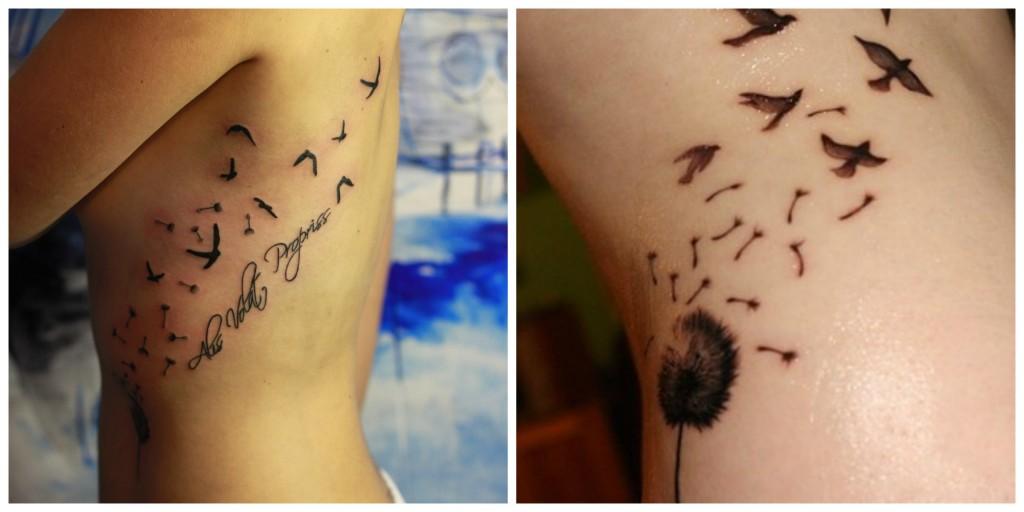 tatouage pissenlit cote