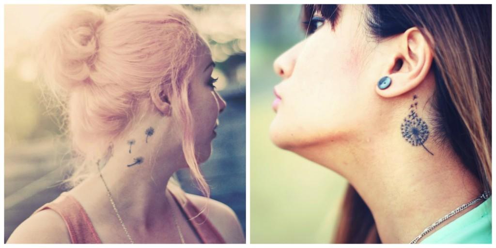 tatouage pissenlit discret