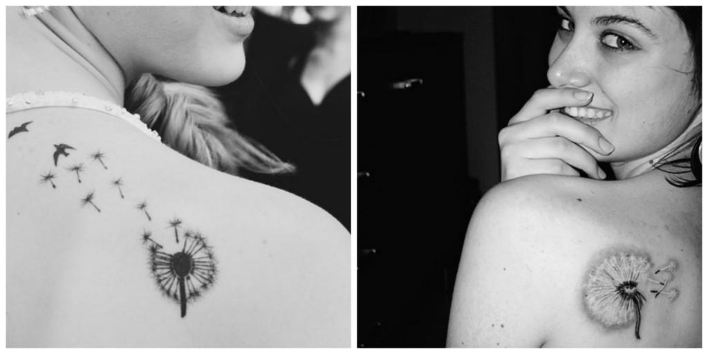 optez pour un tatouage discret le tatouage pissenlit. Black Bedroom Furniture Sets. Home Design Ideas