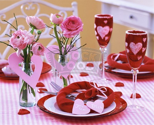 decoration coeur saint valentin