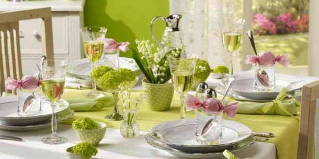 décoration de table pour pliage de serviette feuille